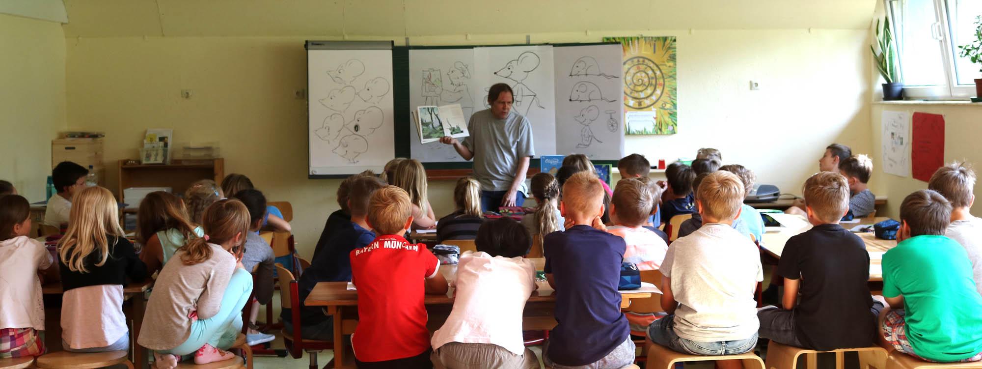 Dieter Konsek, Lesung/Workshop, Grundschule Illmensee